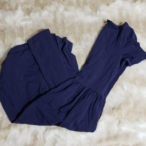ASOS Navy Blue Long Cotton Sleeveless Midi Dress